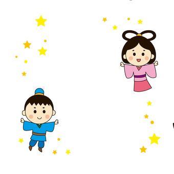 Tanabata Orihime and Hikoboshi