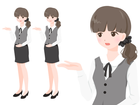 OL in gray uniform 【mayu】