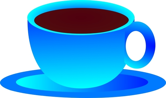 Coffee blue cup