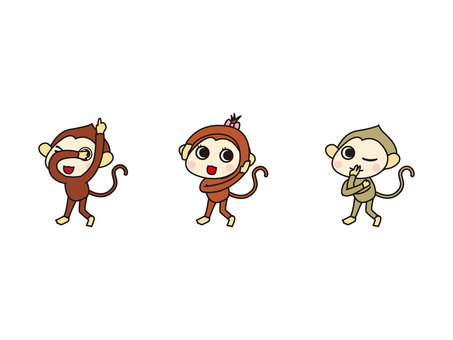 Monkey listening monkey speaking monkey