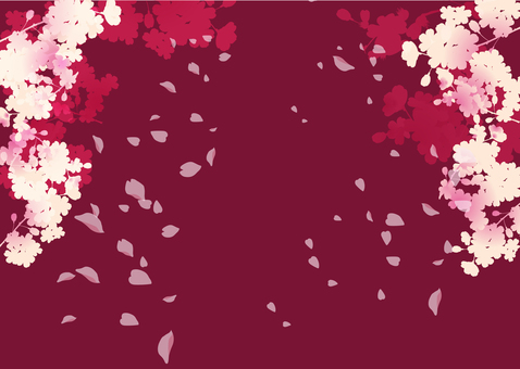 Spring cherry frame 2