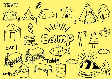 手描きキャンプアイテム01