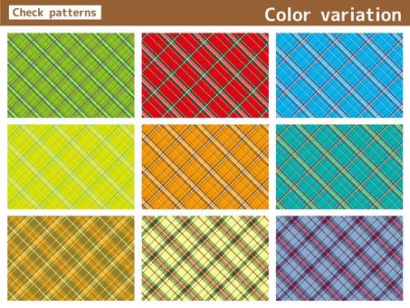 Check pattern color variation