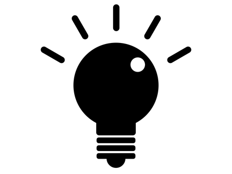 Light bulb inspiration silhouette monochrome