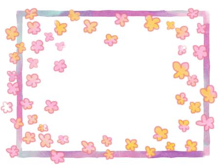 Fluffy floral frame