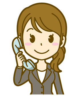 女性(会社員):C_電話01BS