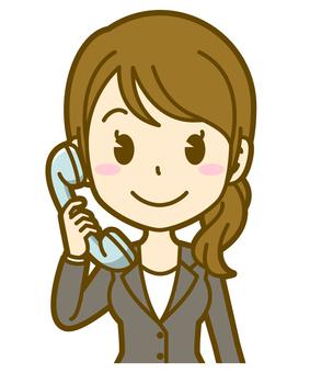 Woman (company employee): C_ phone 01BS