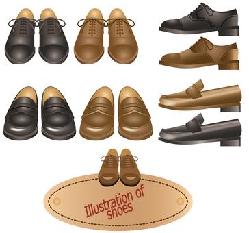 靴 革靴 正面と側面