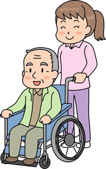 Elderly people in wheelchairs 2