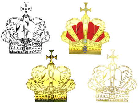 Hand drawn crown part 2