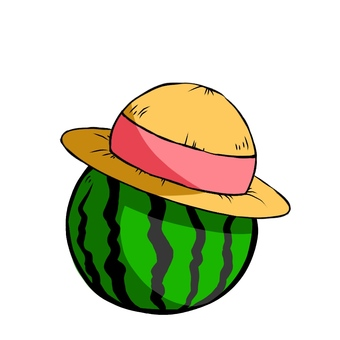 Hat watermelon