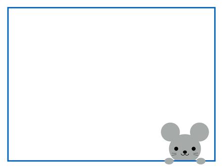 쥐 주 프레임 동물 파랑