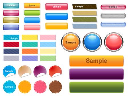Assortment of button materials