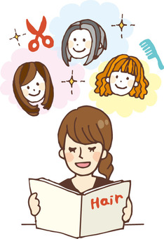 People who read books (catalog · hair)
