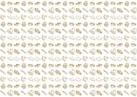 Cute sea creatures pattern set 09