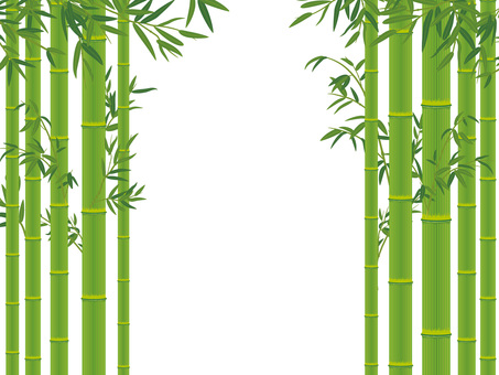 Bamboo with bamboo leaves _ Bamboo cutout 03