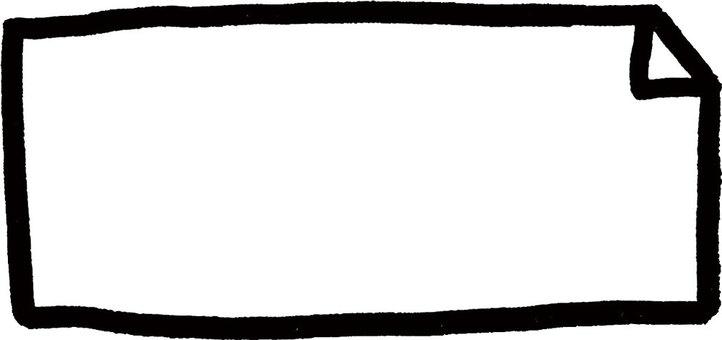 Hand-drawn frame (black)