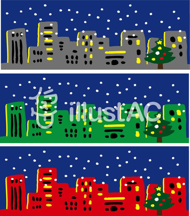 クリスマスの街並みイラスト No 915753無料イラストならイラストac
