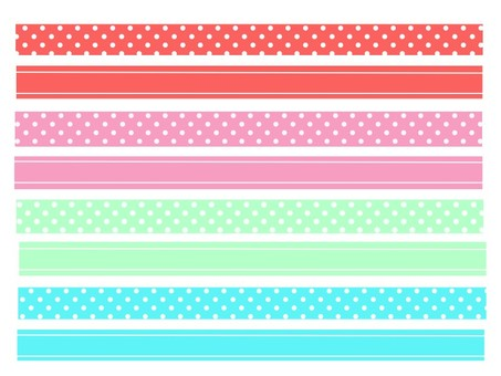 Masking tape style line
