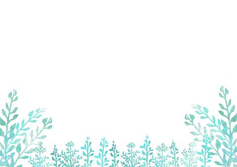 수채화 잔디 잎