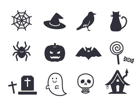 Halloween icon monochrome