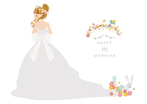 꽃과 웨딩 드레스