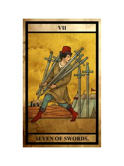 Tarot sword 7