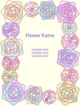 Geometric Flower Frame 2