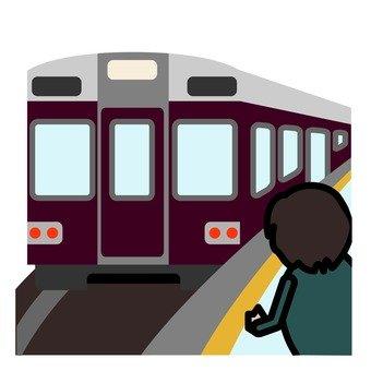 A man riding a train