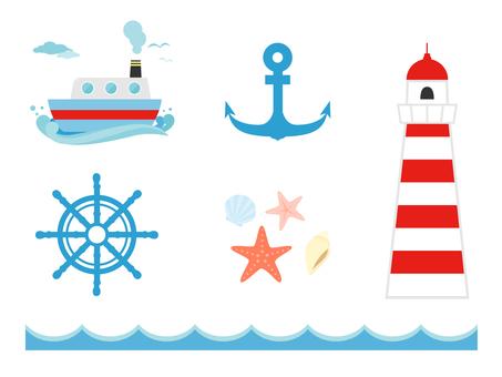 Various marine icons
