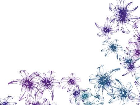 푸른 꽃 프레임