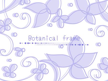 잎의 프레임 01 / 보라색