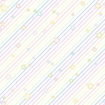 背景-星とストライプ・虹
