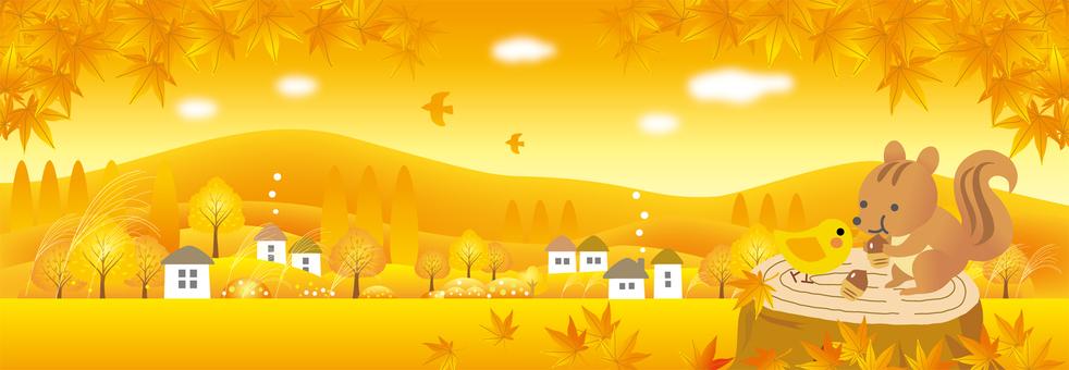 가을 황혼의 시간