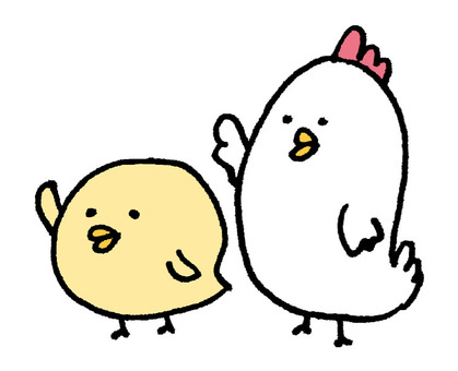 Chicken parent and child