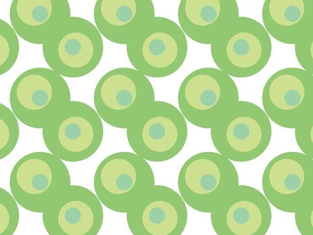 Seamless dot pattern green