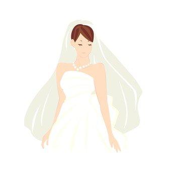 女人穿婚紗