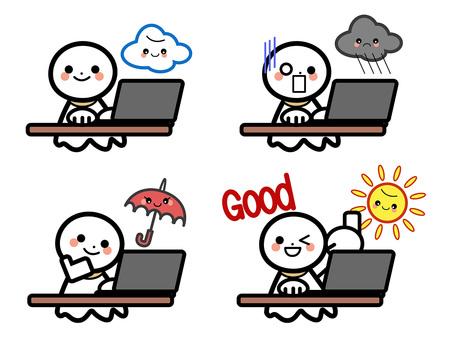 Simple Weather Set - Laptop