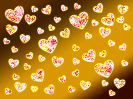【Glitter】 Heart Background [Purple]