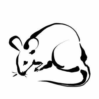 Mouse ink painting simple