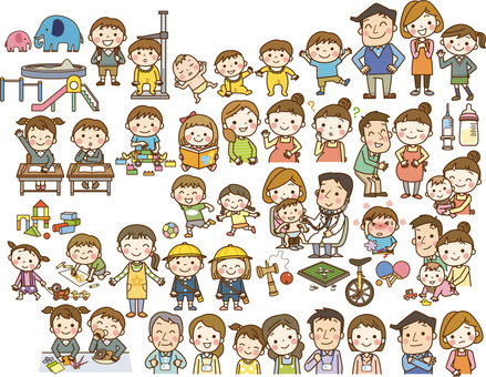 Child-rearing illustration
