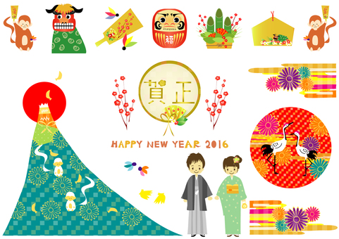 New Year's material 2016 anniversary ver 2