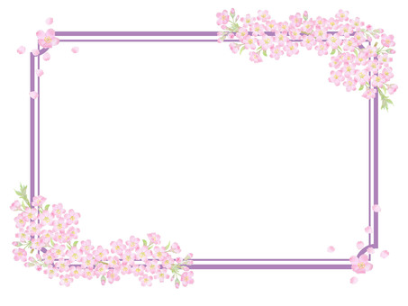 桜枠飾り ★0494-F