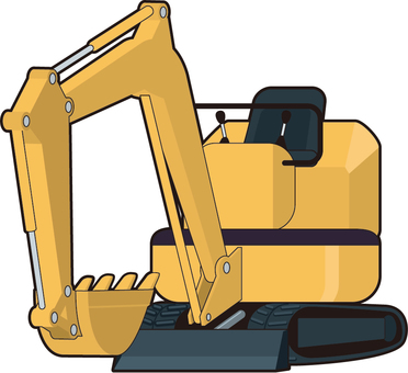 Small excavator car