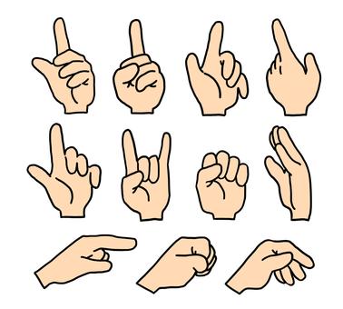 Hand sign (skin color)