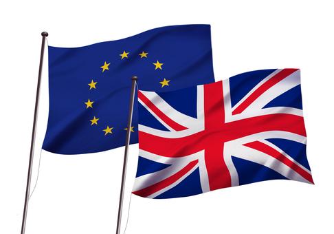 EUとイギリスの国旗イメージ