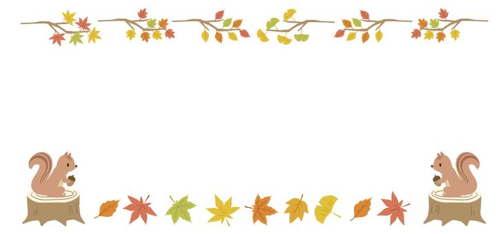 Fall decorative frame 4
