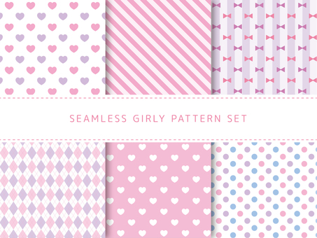 Girly pattern set
