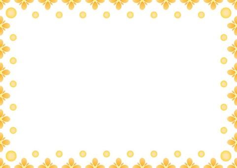 Orange frame · flower 2