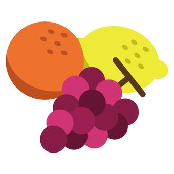 Fruits (Orange · Lemon · Grape)
